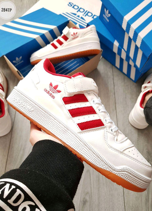 Adidas forum mid White/Red