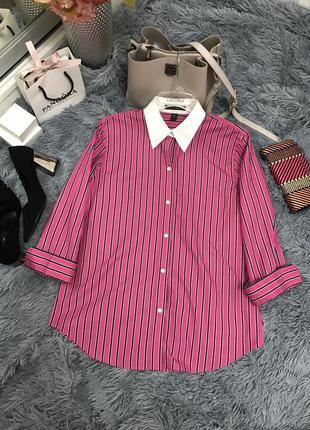 Полосатая рубашка премиум линии lauren ralph lauren