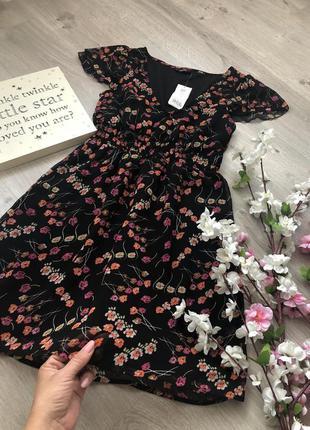 Милое и нежное шифоновое платье с цветами, платье с цветочным ...