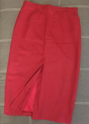 Яркая длинная юбка карандаш большого размера☘️100% шерсть