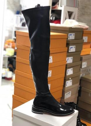 Женские кожаные ботфорты