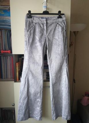 Серебристые джинсы trussardi jeans
