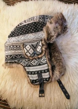 Шапка-ушанка h&m one size шапка унисекс с искусственным мехом