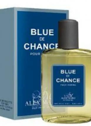 Туалетная мужская вода Alex Blue de chance