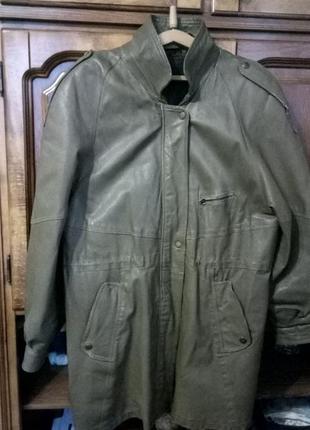 Куртка-парка кожаная