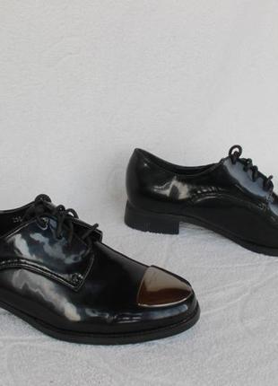 Черные туфли, на шнурках, оксфорды, броги 38, 39, 40 размера н...