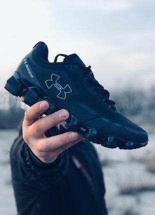 Стильные кроссовки under armour scorpio running shoes black/white