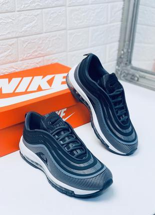 Nike air max 97 grey кроссовки мужские найк аир макс серые пре...