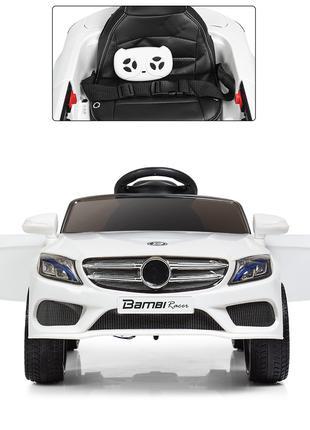 Детский электромобиль Mercedes M 3981 EBLR-1  EVA колеса белый