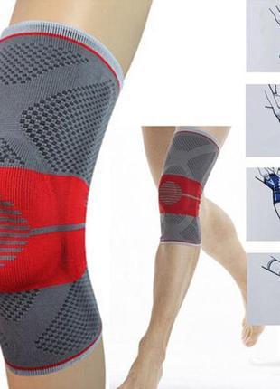 Бандаж для коленного сустава с ребрами жесткости размер m l se...