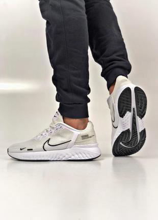 Мужские светлые кроссовки найк, для бега /спорта
