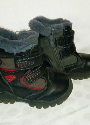 Зимние ботинки на мальчика 25 размер