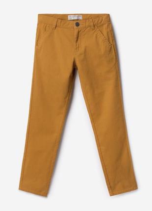 Стильные горчичные брюки штаны чино для мальчика подростка кот...