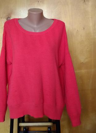 Р 16 / 50-52 натуральная яркая вязаная кофта свитер свитшот с ...