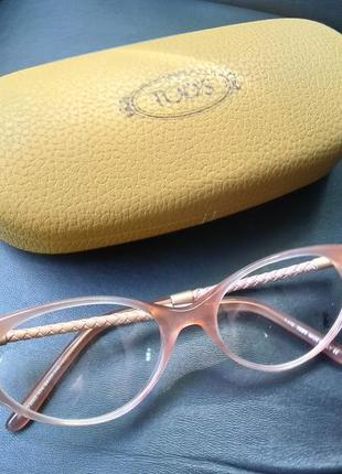 Новая оправа премиум бренда tod's очки. пудра/кошачий глаз/кож...