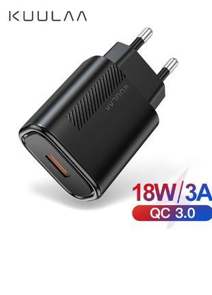 KUULAA Быстрая зарядка 3,0 QC 18 Вт USB зарядное устройство