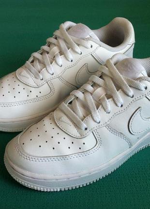Ультрамодные кожаные кроссовки nike air force 1 🔥🔥🔥 👟 размер 3...