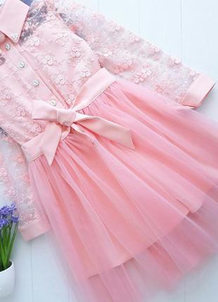 Платье с съемной фатиновой юбкой