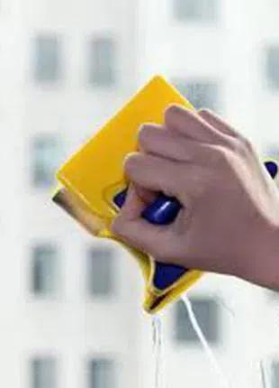 Glass Wiper щетка магнитная для мытья окон, универ. губка для сте