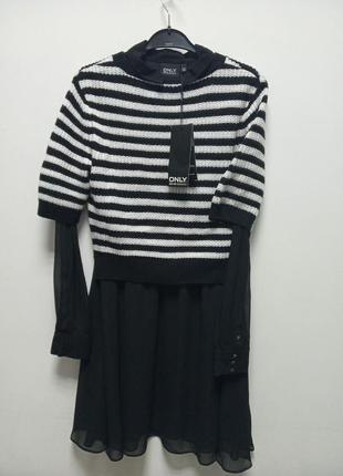 Практичное платье с кофтой 2 в 1 only