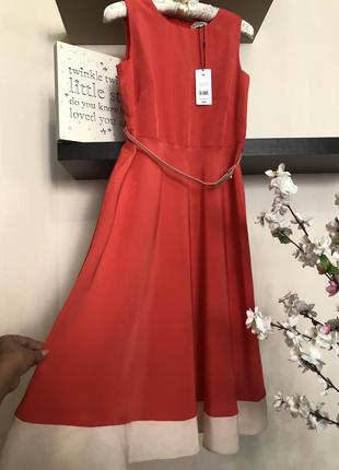 Очень красивое платье с поясом, легкое нарядное платье,
