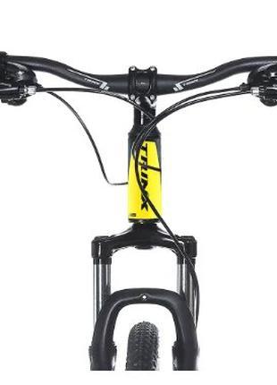 Горный велосипед Trinx MAJESTIC M116 ELITE Matt-Black-Yellow-Blue