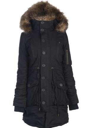 Женская зимняя парка люкс куртка с мехом длинная
