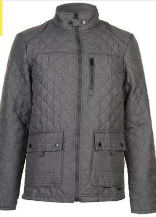 Мужская стеганная куртка короткая pierre cardin