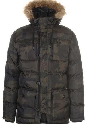 Мужской пуховик зимняя куртка аляска fabric англия