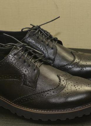 Крутые мужские кожаные туфли броги. супер качество
