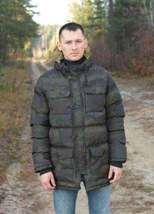 Мужской пуховик зимняя куртка fabric англия
