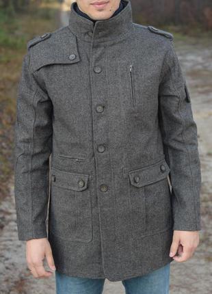 Мужское стильное пальто куртка плащ lee cooper