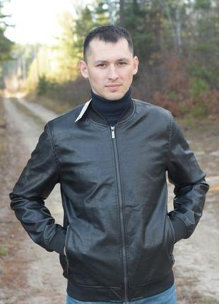 Кожаный бомбер, кожаная куртка lee cooper