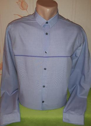 # розвантажуюсь сиреневая рубашка calvin klein, slim fit, made...