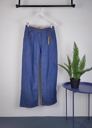 #розвантажуюсь легкие хлопковые синие штаны на лето от wallis