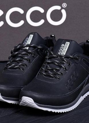 Кожаные кроссовки туфли ессо мужские.