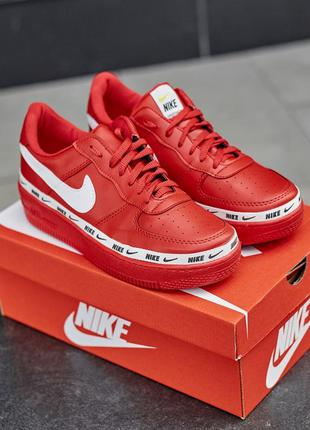 Nike air force 1 low red мужские кроссовки найк