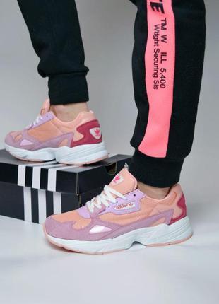 Adidas falcon стильные женские кроссовки адидас розовый цвет (...