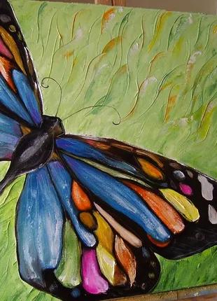 Картина маслом Метелик 60*60