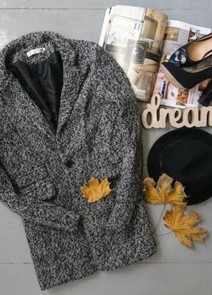 Актуальное демисезонное пальто пиджак в стиле бойфренд высокий...