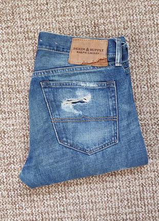 Ralph lauren denim & supply джинсы рваные slim fit оригинал (w...