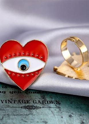 Большое кольцо сердце