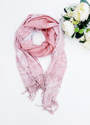 Нежный шарф палантин нежно розовый шарф