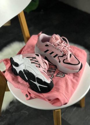 Кроссовки adidas x naked magmur runner pink white black адидас...