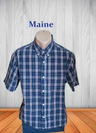 🌿🌿maine стильная мужская рубашка с коротким рукавом м🌿🌿🌿