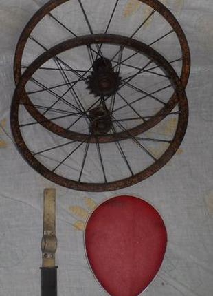 Седло детское дополнительное на раму пара колес ретро СССР.