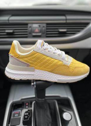 Кроссовки adidas zx 500 желтые
