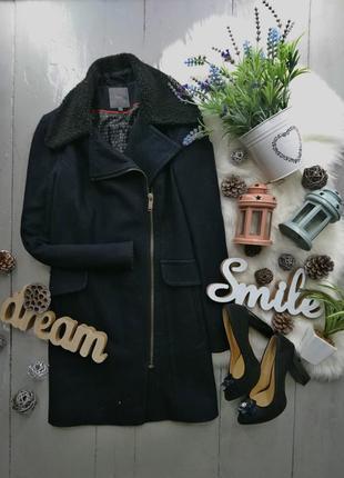 Актуальное шерстяное пальто косуха в стиле бойфренд boyfriend ...