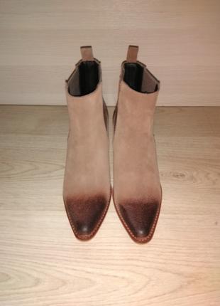 🔥крутые🔥 замшевые, натуральные ботинки, казаки, ковбойки, трен...