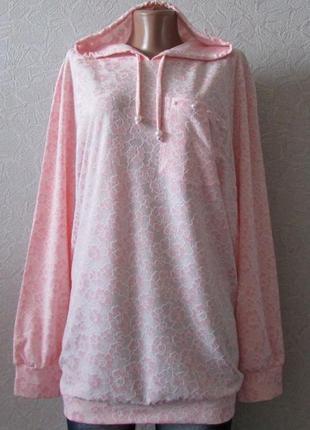 Стильная туника свитер лекса нежно-розовая, большой размер!